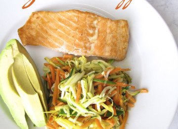 Asian Salmon and Julienned Vegetables
