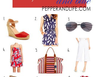 Red, White and Blue Fashion, July 4th