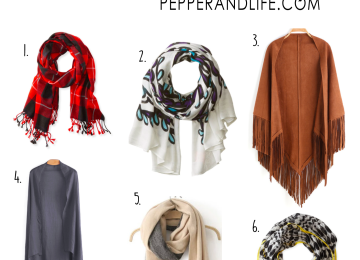 Fall Scarves and Wraps