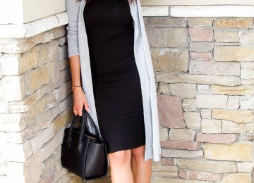 Maxi Cardigan and Midi Bodycon Dress
