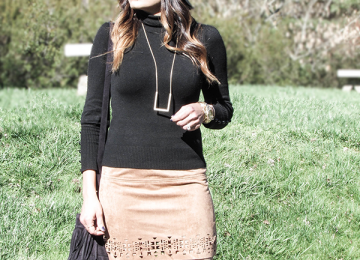 Target Faux Suede Cutout Skirt