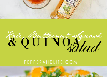 Kale, Butternut Squash, Quinoa Salad with Apple Vinaigrette