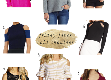 Cold shoulder tops