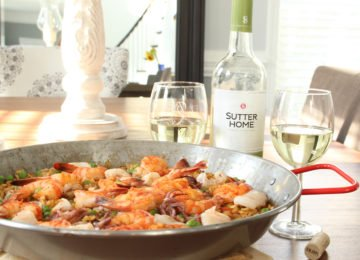 paella recipe and Sutter Home Wines