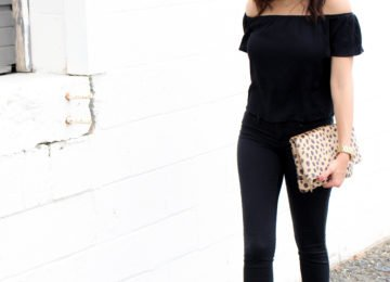 Off the shoulder top jessica simpson shoes