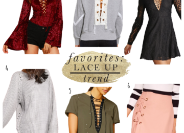 Lace Up Tops and Skirt