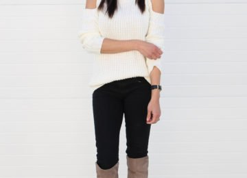 Cold Shoulder Sweater Camel Coat