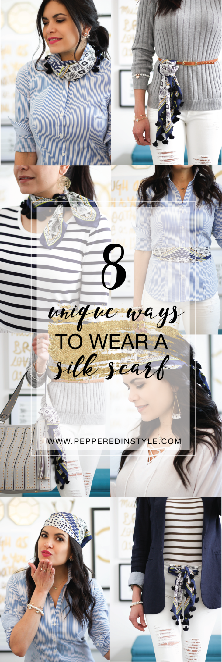 8 Unique Ways to Wear a Silk Scarf