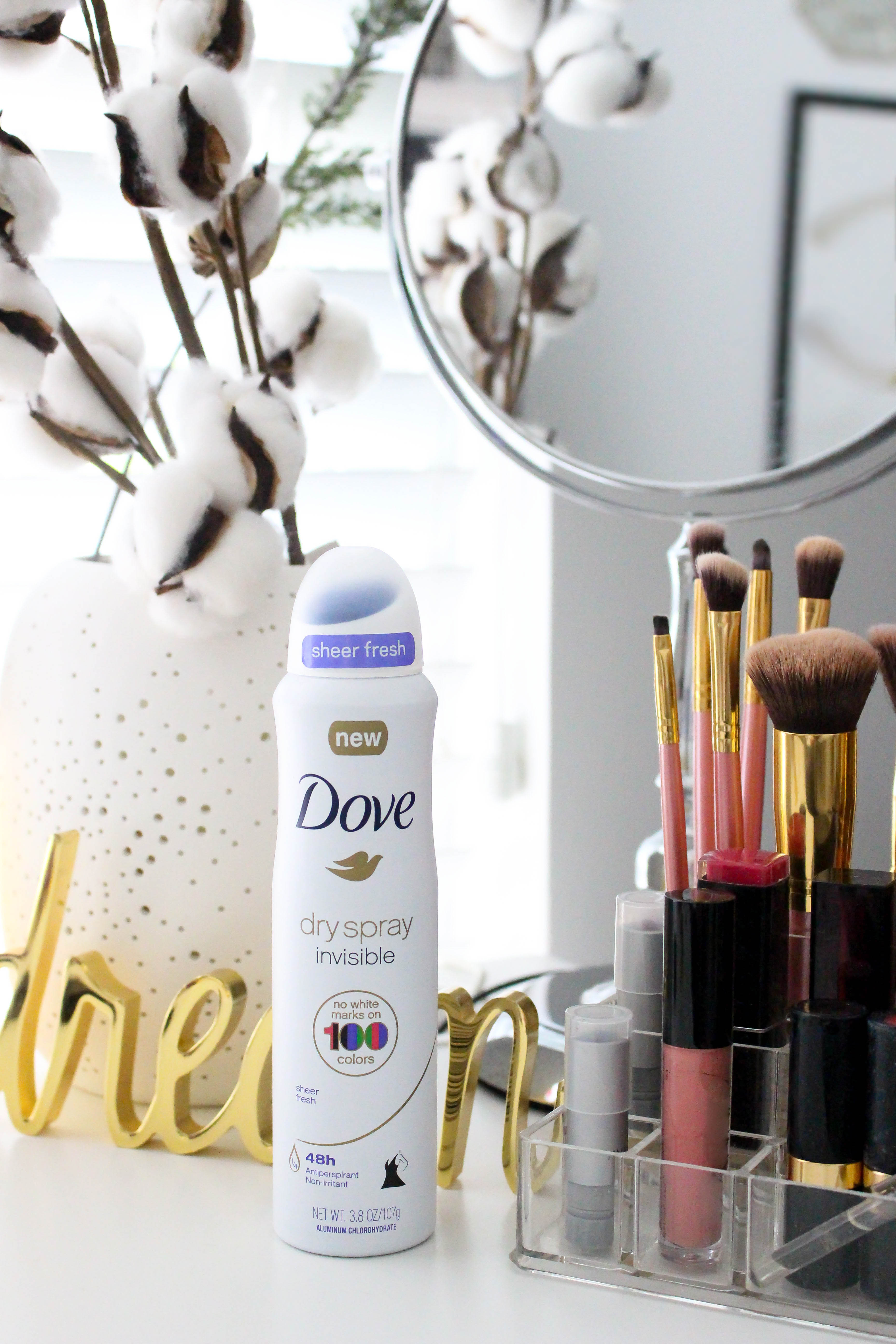 Avoid a fashion emergency with Dove Dry Spray