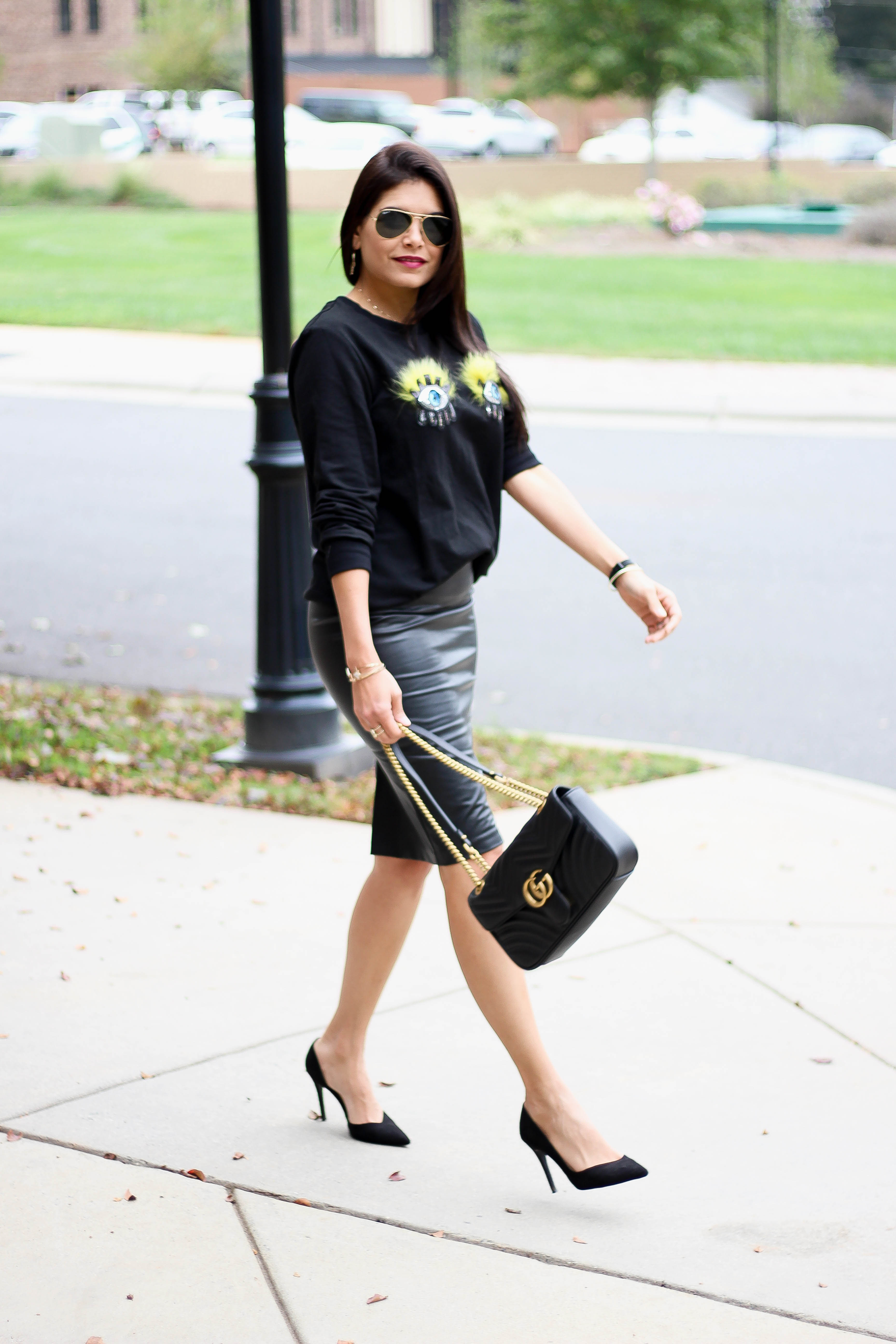 Sequin Patched Sweater