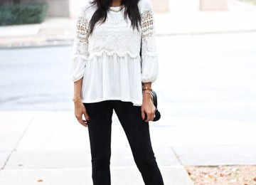 White Tunic and Sailor Leggings